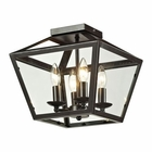 ELK Alanna Collection 2 Light Flush Mount in Oil Rubbed Bronze EK-31506-4
