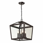 ELK Alanna Collection 4 Light Semi Flush in Oil Rubbed Bronze EK-31507-4