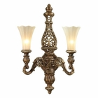 ELK Allesandria Collection 2 Light Sconce in Burnt Bronze/Weathered Gold Leaf EK-11551-2
