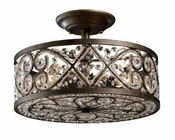 ELK Amherst 4-Light Semi-Flush in Antique Bronze EK-11286-4
