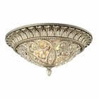 ELK Andalusia Collection 2 Light Flush Mount in Aged Silver EK-11693-2