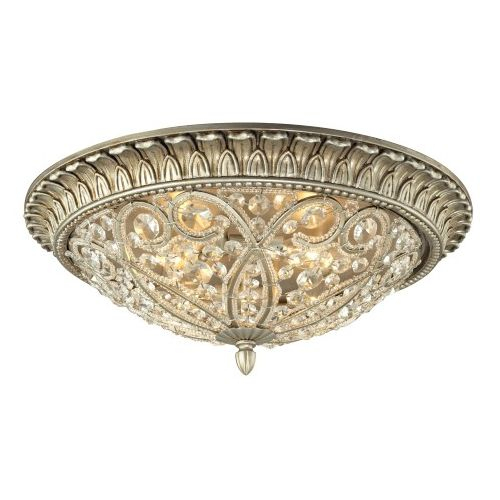 Elk Lighting Andalusia: ELK Andalusia Collection 3 Light Flush Mount In Aged