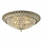 ELK Andalusia Collection 3 Light Flush Mount in Aged Silver EK-11694-4