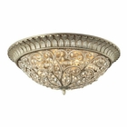 ELK Andalusia Collection 8 Light Flush Mount in Aged Silver EK-11695-8