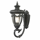 ELK Anise Collection 1 Light Outdoor Sconce in Textured Matte Black EK-45075-1