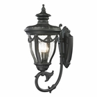 ELK Anise Collection 1 Light Outdoor Sconce in Textured Matte Black EK-45077-3