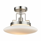 ELK Anza 1 Light Semi Flush in Brushed Nickel EK-17248-1