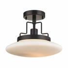 ELK Anza 1 Light Semi Flush in Oil Rubbed Bronze EK-17258-1