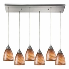 ELK Arco Baleno 6 Light Pendant in Satin Nickel EK-416-6RC-C
