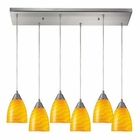 ELK Arco Baleno 6 Light Pendant in Satin Nickel EK-416-6RC-CN