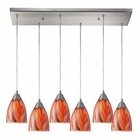 ELK Arco Baleno 6 Light Pendant in Satin Nickel EK-416-6RC-M