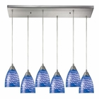 ELK Arco Baleno 6 Light Pendant in Satin Nickel EK-416-6RC-S