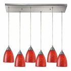 ELK Arco Baleno 6 Light Pendant in Satin Nickel EK-416-6RC-SC