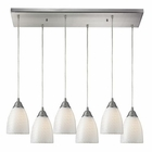 ELK Arco Baleno 6 Light Pendant in Satin Nickel EK-416-6RC-WS