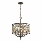 ELK Armand 4 Light Pendant in Weathered Bronze EK-31096-4