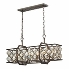 ELK Armand 6 Light Island in Weathered Bronze EK-31098-6