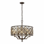 ELK Armand 6 Light Pendant in Weathered Bronze EK-31097-6