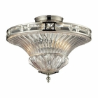 ELK Aubree Collection 2 Light Semi Flush in Polished Nickel EK-31500-2