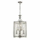 ELK Aubree Collection 3+3 Light Pendant in Polished Nickel EK-31502-3-3