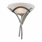 ELK Aurora 1-Light Sconce in Tarnished Silver With White Faux-Alabaster Glass EK-001-TS