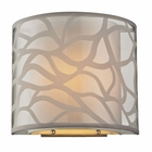 ELK Autumn Breeze Collection 1 Light Sconce in Brushed Nickel EK-53002-1