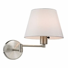ELK Avenal Collection 1 Light Swingarm in Brushed Nickel EK-17153-1