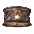 ELK Barrington Gate 2-Light Outdoor Flush Mount in Hazelnut Bronze EK-42037-2