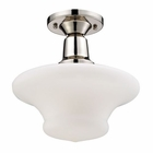 ELK Barton 1-Light Semi-Flush in Polished Nickel EK-66234-1