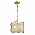 ELK Benicia Collection 3 Light Pendant in Antique Gold Leaf EK-31466-3
