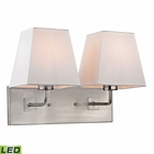 ELK Beverly Collection 2 Light Sconce in Brushed Nickel- Led EK-17161-2-LED