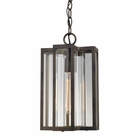 ELK Bianca 1 Light Outdoor Pendant in Hazelnut Bronze EK-45147-1
