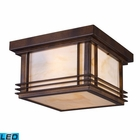 ELK Blackwell 2-Light Outdoor Flush Mount in Hazelnut Bronze - Led EK-42106-2-LED