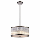 ELK Braxton 3-Light Pendant in Polished Nickel EK-10128-3