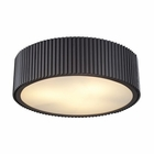 ELK Brendon 3 Light Flushmount in Oil Rubbed Bronze EK-66419-3