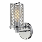ELK Brisbane Collection 1 Light Sconce in Polished Chrome EK-55000-1