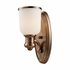 ELK Brooksdale 1-Light Sconce in Antique Copper EK-66180-1