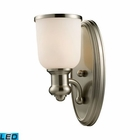 ELK Brooksdale 1-Light Sconce in Satin Nickel - Led EK-66160-1-LED