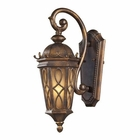 ELK Burlington Junction 1 Light Outdoor Sconce in Hazlenut Bronze and  Amber Scavo Glass EK-42000-1