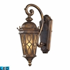 ELK Burlington Junction 1 Light Outdoor Sconce in Hazlenut Bronze and  Amber Scavo Glass - Led EK-42000-1-LED