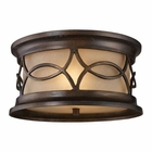 ELK Burlington Junction 2-Light Outdoor Flush Mount in Hazelnut Bronze EK-41999-2