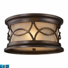ELK Burlington Junction 2-Light Outdoor Flush Mount in Hazelnut Bronze - Led EK-41999-2-LED