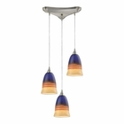 ELK Canyon 3 Light Pendant in Satin Nickel EK-31615-3