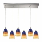 ELK Canyon 6 Light Pendant in Satin Nickel EK-31615-6RC