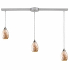 ELK Capri 3-Light Pendant in Satin Nickel EK-10141-3L