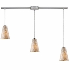 ELK Capri 3-Light Pendant in Satin Nickel EK-10142-3L