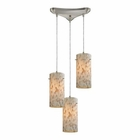 ELK Capri 3 Light Pendant in Satin Nickel EK-10442-3