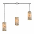 ELK Capri 3 Light Pendant in Satin Nickel EK-10442-3L
