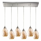 ELK Capri 6 Light Pendant in Satin Nickel EK-10141-6RC