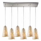 ELK Capri 6 Light Pendant in Satin Nickel EK-10142-6RC