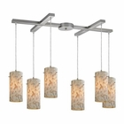 ELK Capri 6 Light Pendant in Satin Nickel EK-10442-6